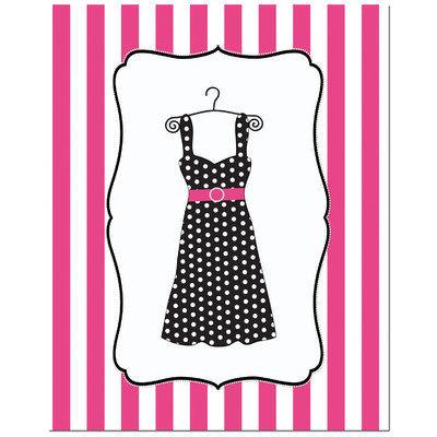 Secretly Designed Fashion Dress Art Print Size: 5