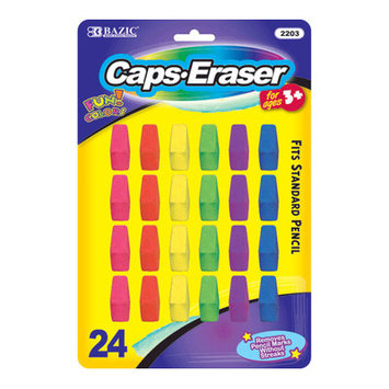 Bazic 220324 Neon Eraser Top Pack of 24