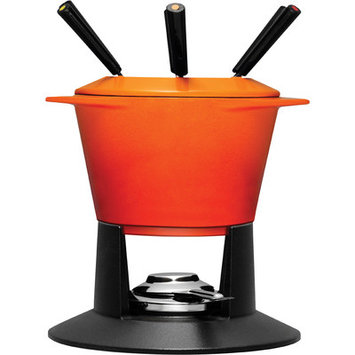 Le Creuset 1.75-Quart Traditional Fondue in Flame