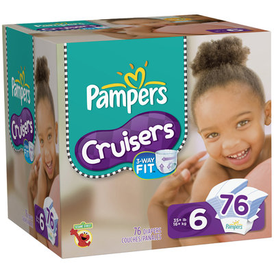 Pampers Cruisers Value Pack Size 6 Diapers 76 ct Box