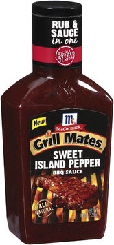 BBQ Sauces Sweet Island Pepper Grill Mates BBQ Sauce 19 Oz Plastic Bottle