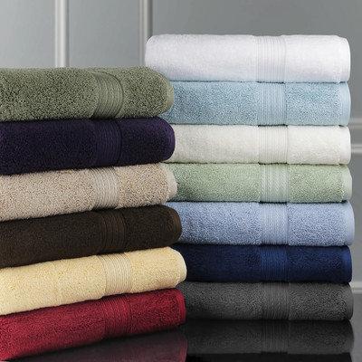 Luxor Linens Bliss Egyptian Cotton Luxury 6 Piece Towel Set Color: White