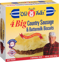 Purnell's Old Folks® Big Country Sausage & Buttermilk Biscuits 4 ct Box
