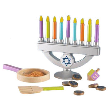 Mica Designs, Inc. KidKraft Chanukah / Hanukkah Wooden Menorah Toy Set