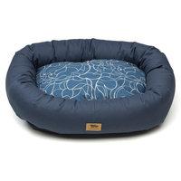 West Paw Design West Paw Cotton Bumper Dog Bed Cobalt/Floral SM