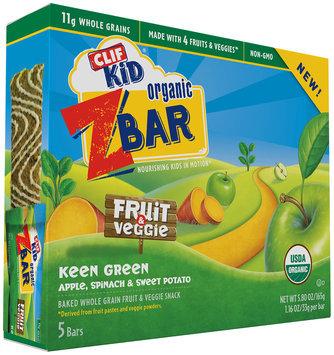 Clif Kid® Z Bar Organic Keen Green Fruit & Veggie