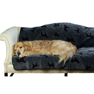 Carolina Pet Company Small Plush Embossed Tossed Dog Throw - Gray