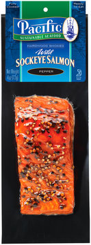 Pacific Sustainable Seafood™ Pepper Hardwood Smoked Wild Sockeye Salmon 4 oz. Pack