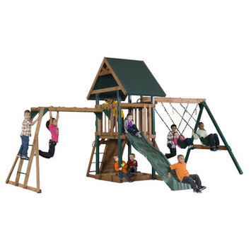 Backyard Play Systems Mongoose Manor Deluxe Playset with Monkey Bars