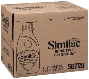 Similac Sensitive For Spit-Up 1 Qt Bottles Infant Formula 6 Ct Box