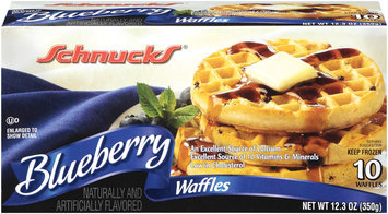 Schnucks Blueberry 10 Ct Waffles 12.3 Oz Box
