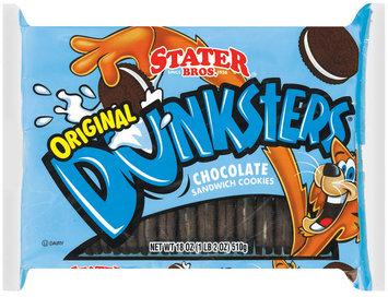 Stater Bros. Chocolate Sandwich Original  Cookies 18 Oz Tray
