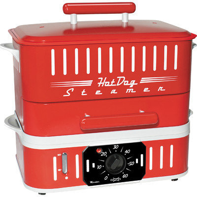 Cuizen Retro Hot Dog Steamer with Lid