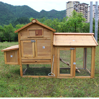 Newacme Llc Chicken Poultry Coop Hen House Rabbit Hutch Cage