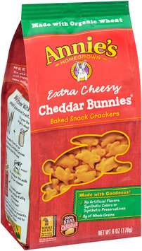 Annie's Homegrown® Extra Cheesy Cheddar Bunnies® Baked Snack Crackers
