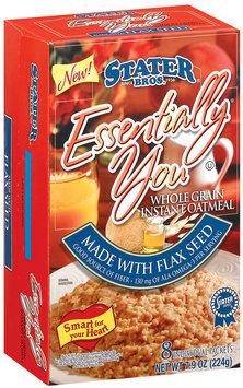 Stater Bros. Essentially You Whole Grain Made W/Flax Seed Instant Oatmeal 8 Ct Box