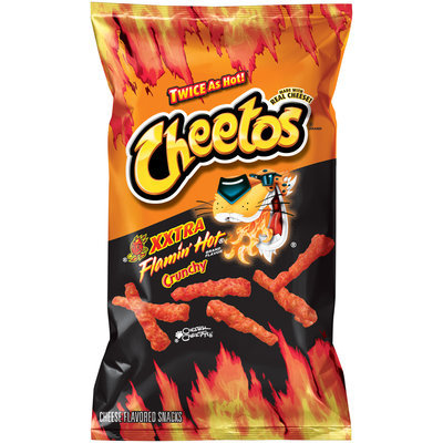 Cheetos® XXtra Flamin' Hot® Crunchy Cheese Flavored Snacks 8.5 oz. Bag