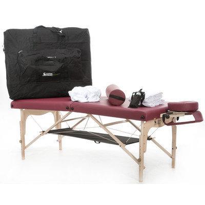 Customcraftworks Simplicity Practice Essentials Massage Kit Color: Burgundy