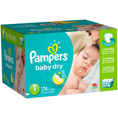 Baby Dry Pampers Baby Dry Newborn Diapers Size 1 174 Count