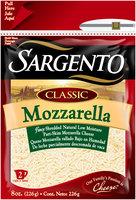 Sargento® Classic Mozzarella Fancy Shredded Cheese 8 oz. Bag
