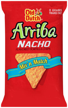 Old Dutch® Arriba® Nacho Flavored Tortilla Chips 8 oz. Bag
