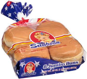 Sunbeam® Enriched Jumbo Sandwich Rolls 8 ct Bag