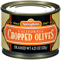 Springfield Chopped California Olives 4.25 Oz Can