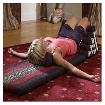 My Zen Home Triangle Lounger Color: Black / Red