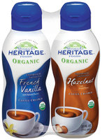 Stremicks Heritage Foods® Organic French Vanilla/Hazelnut Coffee Creamer Twin Pack 2-32 fl. oz. Bottles