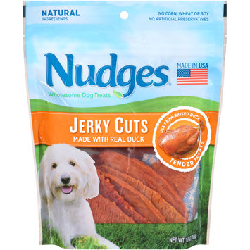 nudges® duck jerky cuts wholesome dog treats
