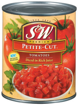 S&W® Petite-Cut Diced Tomatoes 28 oz. Can