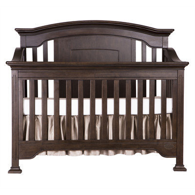 Evlr Sawyer 5-in-1 Convertible Crib Color: Caf Noir