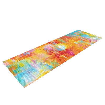Kess Inhouse Off the Grid by Ebi Emporium Rainbow Yoga Mat