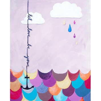 Cici Art Factory Nautical Let Love Be Your Anchor Gicl e Canvas Print