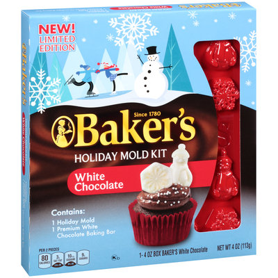 Baker's Holiday Mold Kit with White Chocolate 4 oz. Box