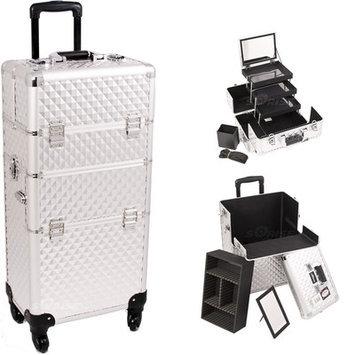 Just Case Sunrise I3561DMSL Silver Diamond Trolley Makeup Case