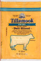 Tillamook® Natural Swiss Cheese Deli Slices 11 ct Bag