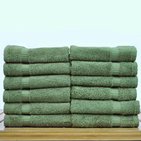Bare Cotton Luxury Hotel and Spa Towel 100% Genuine Turkish Cotton Wash Cloth Color: Moss