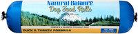 Natural Balance® Duck & Turkey Formula Rolls Dog Food 3.5 lbs. Chub