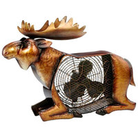 Deco Breeze Moose Figurine Table Top Fan