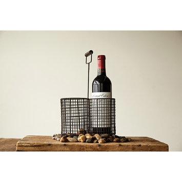 Creative Co-op Secret Garden Tabletop Wine Holder