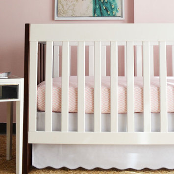 Oliver B 2-Piece Crib Bedding Set- Dove Grey and Pink