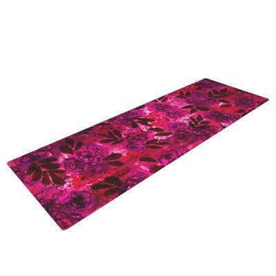Kess Inhouse Grunge Flowers IV by Ebi Emporium Floral Yoga Mat