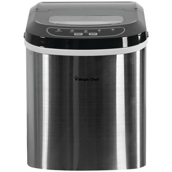 Magic Chef 27 lb. Portable Countertop Ice Maker in Stainless, Stainless/With Black Lid