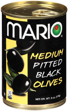 Mario® Medium Pitted Black Olives 6 oz. Pull Top Can
