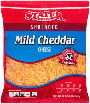 Stater Bros.® Shredded Mild Cheddar Cheese 32 oz. Bag.