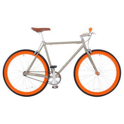 Vilano Rampage Fixed Gear Bike Fixie Single Speed Road Bike Matte Grey / Orange Small 50cm