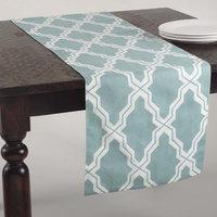 Saro Moroccan Design Cotton-Linen Table Runner