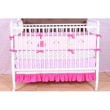 Bacati Fairy Land Toddler Sheet Set One Size (Pink/Green)