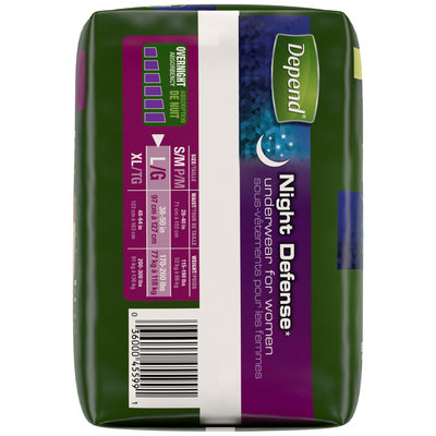 Depend® for Women Night Defense Overnight Absorbency Underwear L 14 ct Pack